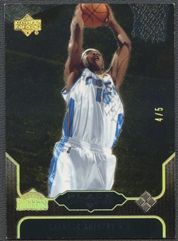 2004/05 Black Diamond #151 Carmelo Anthony Black #4/5