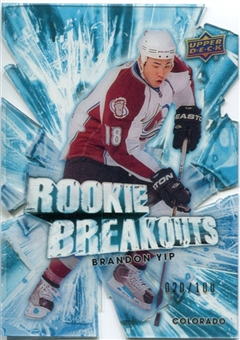 2010/11 Upper Deck Rookie Breakouts #RB12 Brandon Yip /100