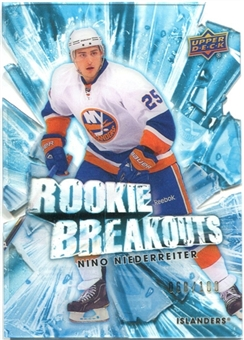 2010/11 Upper Deck Rookie Breakouts #RB21 Nino Niederreiter /100