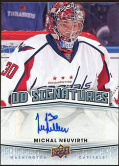 2010/11 Upper Deck Signatures #UDSMN Michal Neuvirth Autograph