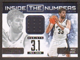 2012/13 Panini Prestige Inside the Numbers Materials #36 Marc Gasol