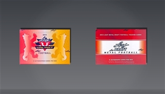 COMBO DEAL - 2013 Leaf Football Hobby Boxes (Valiant, Metal Draft)