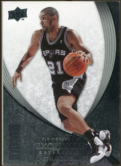 2007/08 Upper Deck Exquisite Collection #13 Tim Duncan /225