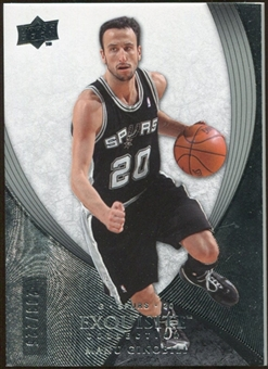 2007/08 Upper Deck Exquisite Collection #24 Manu Ginobili /225