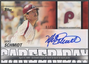 2012 Topps #MS Mike Schmidt Career Day Auto #07/10