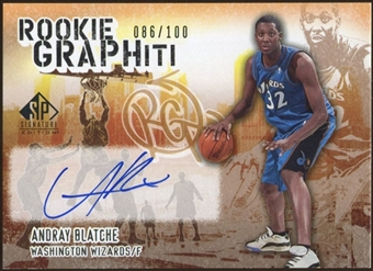 2005/06 Upper Deck SP Signature Edition Rookie GRAPHiti #AB Andray Blatche Autograph /100