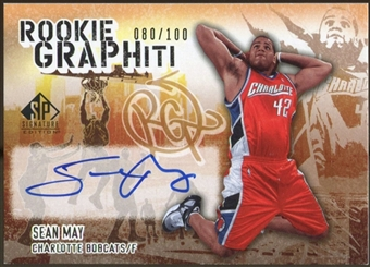 2005/06 Upper Deck SP Signature Edition Rookie GRAPHiti #SM Sean May Autograph /100