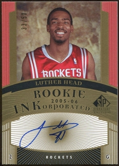 2005/06 Upper Deck SP Signature Edition Rookies INKorporated #LH Luther Head Autograph /50