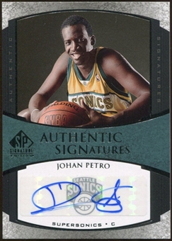 2005/06 Upper Deck SP Signature Edition Signatures #JP Johan Petro Autograph