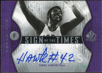 2006/07 Upper Deck SP Authentic Sign of the Times All-Stars #CH Connie Hawkins Autograph /50