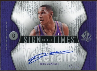 2006/07 Upper Deck SP Authentic Sign of the Times Veterans #BD Boris Diaw Autograph /75