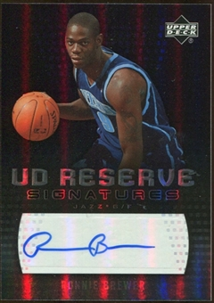 2006/07 Upper Deck UD Reserve Signatures #RB Ronnie Brewer Autograph