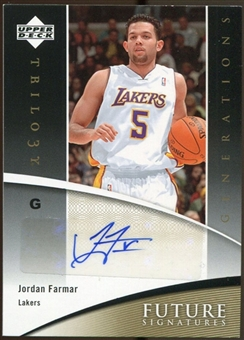 2006/07 Upper Deck Trilogy Generations Future Signatures #FSJF Jordan Farmar Autograph