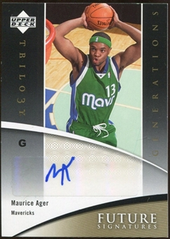 2006/07 Upper Deck Trilogy Generations Future Signatures #FSMA Maurice Ager Autograph