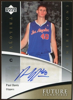 2006/07 Upper Deck Trilogy Generations Future Signatures #FSPD Paul Davis Autograph