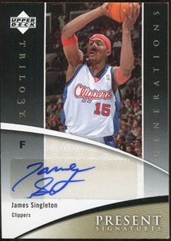 2006/07 Upper Deck Trilogy Generations Present Signatures #PRSJS James Singleton Autograph