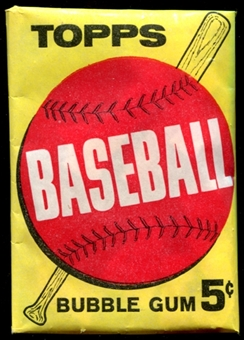 1963 Topps Baseball 5 Cent 1st Series Wax Pack
