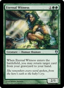 Magic the Gathering Fifth Dawn Single Eternal Witness FOIL