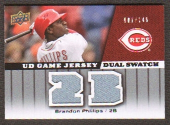 2009 Upper Deck UD Game Jersey Dual #GJBP Brandon Phillips /149