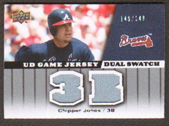 2009 Upper Deck UD Game Jersey Dual #GJCJ Chipper Jones /149