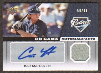 2009 Upper Deck UD Game Materials Autographs #GMCM Colt Morton Autograph /99