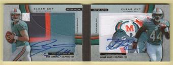 2012 Topps Strata Rookie BOOKLET 1/1 Ryan Tannehill / Miller Book Clear Cut Auto Dolphin
