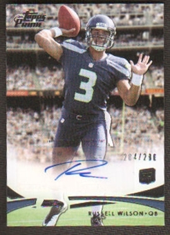 2012 Topps Prime Russell Wilson RC Rookie Autograph Auto # 284/286