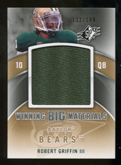 2012 Upper Deck SPx Robert Griffin III Winning Big Materials RC # 132/199