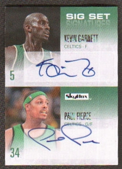 2008/09 Fleer Skybox Kevin Garnett / Paul Pierce Sig Set Signatures Serial # 5/25 Autos