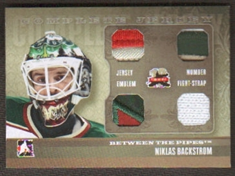 2011/12 ITG Between the Pipes Niklas Backstrom Complete Jersey / Package Gold 1/1