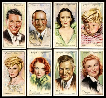 1934 Player's Cigarettes Film Stars Second Series Complete Set