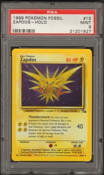 Pokemon Fossil Single Zapdos 15/62 - PSA 9