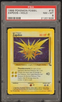 Pokemon Fossil Single Zapdos 15/62 - PSA 8