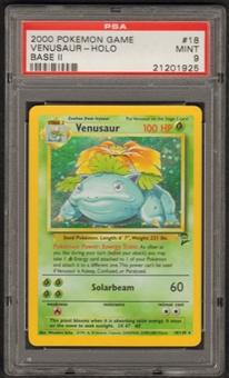 Pokemon Base Set 2 Single Venusaur 18/130 - PSA 9