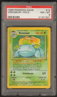 Pokemon Base Set 1 Single Venusaur 15/102 - PSA 8