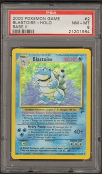Pokemon Base Set 2 Single Blastoise 2/130 - PSA 8