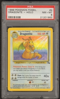 Pokemon Fossil Single Dragonite 4/62 - PSA 8