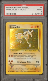 Pokemon Fossil Single Hitmonlee 7/62 - PSA 9