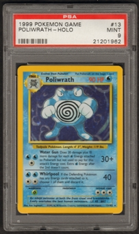 Pokemon Base Set 1 Single Poliwrath 13/102 - PSA 9
