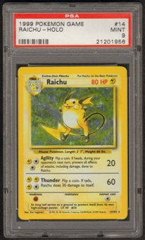 Pokemon Base Set 1 Single Raichu 14/102 - PSA 9