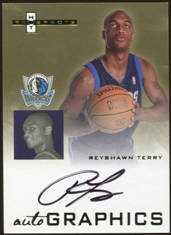 2007/08 Fleer Hot Prospects Autographics #RT Reyshawn Terry Autograph