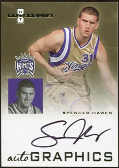 2007/08 Fleer Hot Prospects Autographics #SH Spencer Hawes Autograph