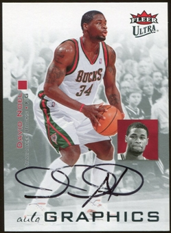 2007/08 Fleer Ultra SE Autographics Black #AUDN David Noel Autograph