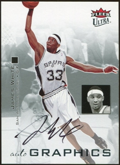 2007/08 Fleer Ultra SE Autographics Black #AUJW James White Autograph