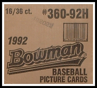 1992 Bowman Baseball Wax 16-Box Case