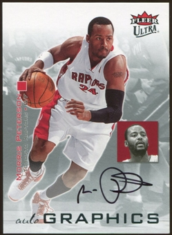 2007/08 Fleer Ultra SE Autographics Black #AUMP Morris Peterson Autograph