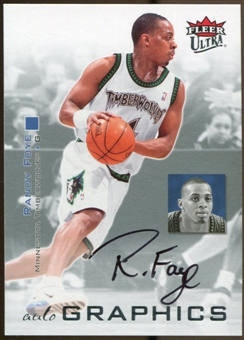 2007/08 Fleer Ultra SE Autographics Black #AURF Randy Foye Autograph