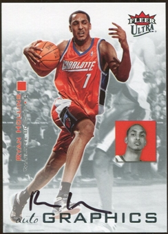 2007/08 Fleer Ultra SE Autographics Black #AURH Ryan Hollins Autograph