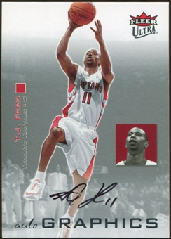 2007/08 Fleer Ultra SE Autographics Black #AUTF T.J. Ford Autograph