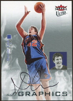 2007/08 Fleer Ultra SE Autographics Black #AUDL David Lee Autograph